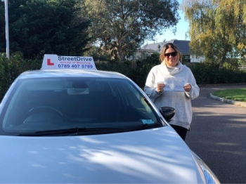 "I can not recommend StreetDrive enough I passed ""first time"" with Louise as my driving instructor she's amazing and she helped build my confidence so much. <br />
