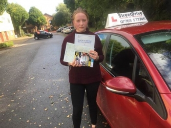 Congratulations to Bethan Pearce who passed her driving test today at Chippenham DTC 1st Time just TWO driving faults fantastic news<br />
