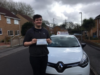 Delighted for Brandon Langton who passed his driving test today at Poole DTC 1st Attempt - just FOUR driving faults<br />