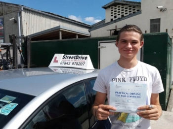 Delighted for Cameron Hurd who passed his driving test today at Westbury DTC 1st attempt just ZERO driving faults fantastic news<br />