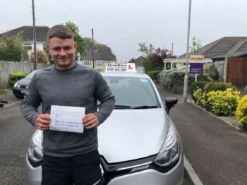 "Beep, beep, delighted for 'Connor Hambridge"" who passed his driving test today at 'Poole DTC', ""1st attempt"" just ""3"" driving faults, fantastic news, very well done.<br />