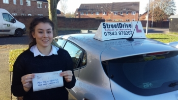 Well done to Imogen Browne who passed her driving test at Trowbridge DTC only TWO faults we are ALL delighted for you<br />