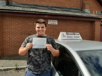 Congratulations to 'Jack Huxham' who passed his driving test at Trowbridge DTC, we are ALL delighted for you.<br />