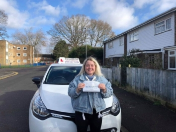 "Congratulations ""Jamiee Smith"" who passed her driving test ""1st"" attempt, at Poole DTC, we are delighted for you, very well done.<br />