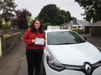 Congratulations to Jennifer Thompson who passed her driving test today at Poole DTC just TWO driving faults fantastic news<br />
