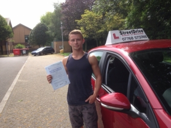 Congratulations to Joe Makepease who passed his driving test 1st Attempt today at Chippenham DTC well done we are delighted for you<br />