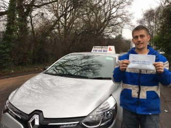 Delighted for Joe Woldon who passed his driving test this morning at Poole DTC just TWO minor faults fantastic news<br />