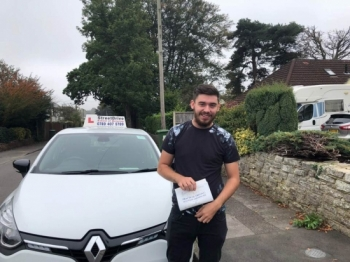 "Woohoo - move over ""Kane"" is on the road, delighted for 'Kane Taylor' who passed his driving test at Poole DTC, ""1st Attempt"", fantastic news.<br />