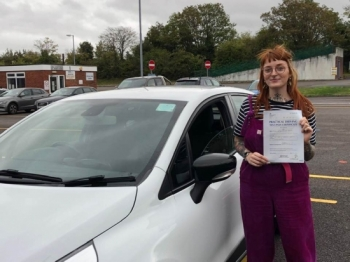 "Beep, beep, congratulations ""Lucy Smith"" who passed her driving test ""1st"" attempt at Poole DTC, just the ""FOUR"" driving faults, very well done.<br />