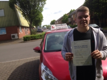 Congratulations to Matt Strudden who passed his driving test 1st Attempt today at Chippenham DTC very well done<br />
