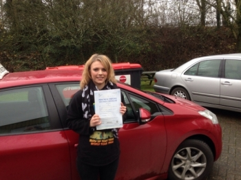 Congratulations to Olivia Worral who passed her driving test 1st Attempt very well done <br />