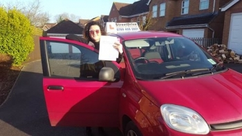 Congratulations to Zenya Simmons who passed her driving test today at Chippenham DTC TWO minor faults fantastic news<br />
